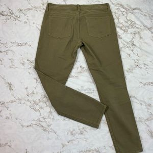 J. Crew Pants - J. Crew Stretch Toothpick Jeans in Olive Green